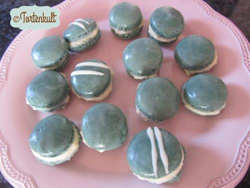 Macarons mit weißer Schokoladenganache