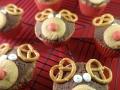 Weihnachtliche Rentiercupcakes mit Spekulatius und Orangen-Zimt-Füllung