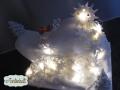 beleuchtete Weihnachtstorte